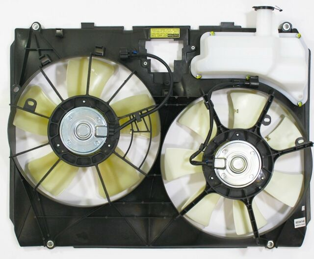 Dual Radiator and Condenser Cooling Fan Assembly For 2006 Toyota Sienna 3.3L V6