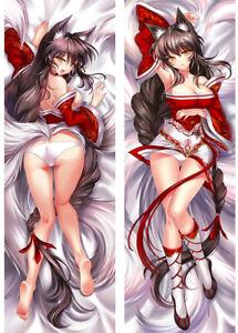 Details about Ahri Nine Tailed Fox LOL Dakimakura Anime Hugging Body Pillow Case Cover 150cm
