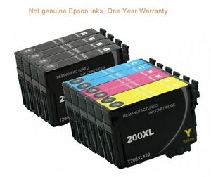 Details about 10 ink toner cartridge for Epson WorkForce WF-2540 all-in-one  AIO inkjet printer