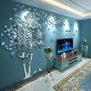 DIY Vase Flower Tree Crystal Arcylic 3D Wall Stickers Decal Home Decor Art