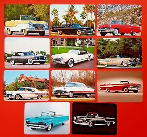 NEW-Set-of-11-Mini-Postcards-American-Convertible-Motor-Cars-Autos-of-the-1950s