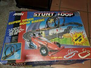 Vintage Artin stunt loop  Super Speed Road Racing Slot Car Set in box