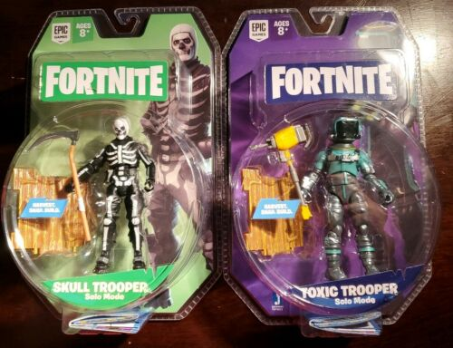 Lot de 2 Fortnite mode Solo toxiques Trooper Crâne Trooper