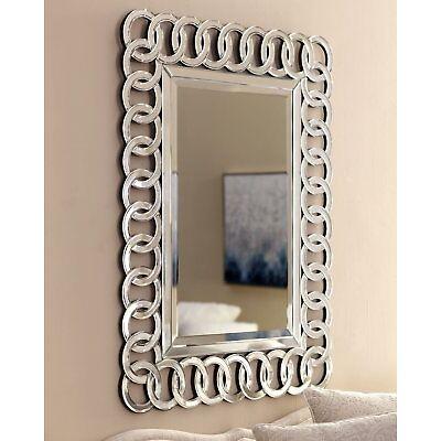 ITALIAN Large Silver Wall Rectangular Living Bathroom Hallway Bedroom Mirror NEW