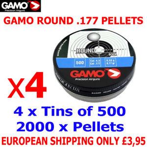 GAMO ROUND .177 Airgun Pellets 4(tins)x500pcs