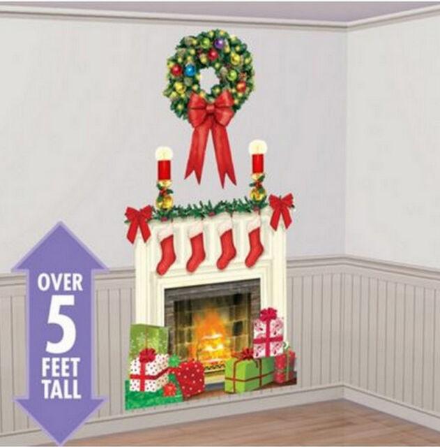 Christmas Holiday Hearth Scene Setter Wall Decoration - 670229