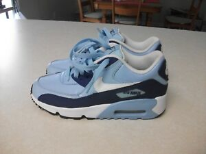Details about NIKE AIR MAX 90 LTR GS LEATHER 833376 401 BLUECAPWHITE DEEP ROYAL BLACK 5.5Y