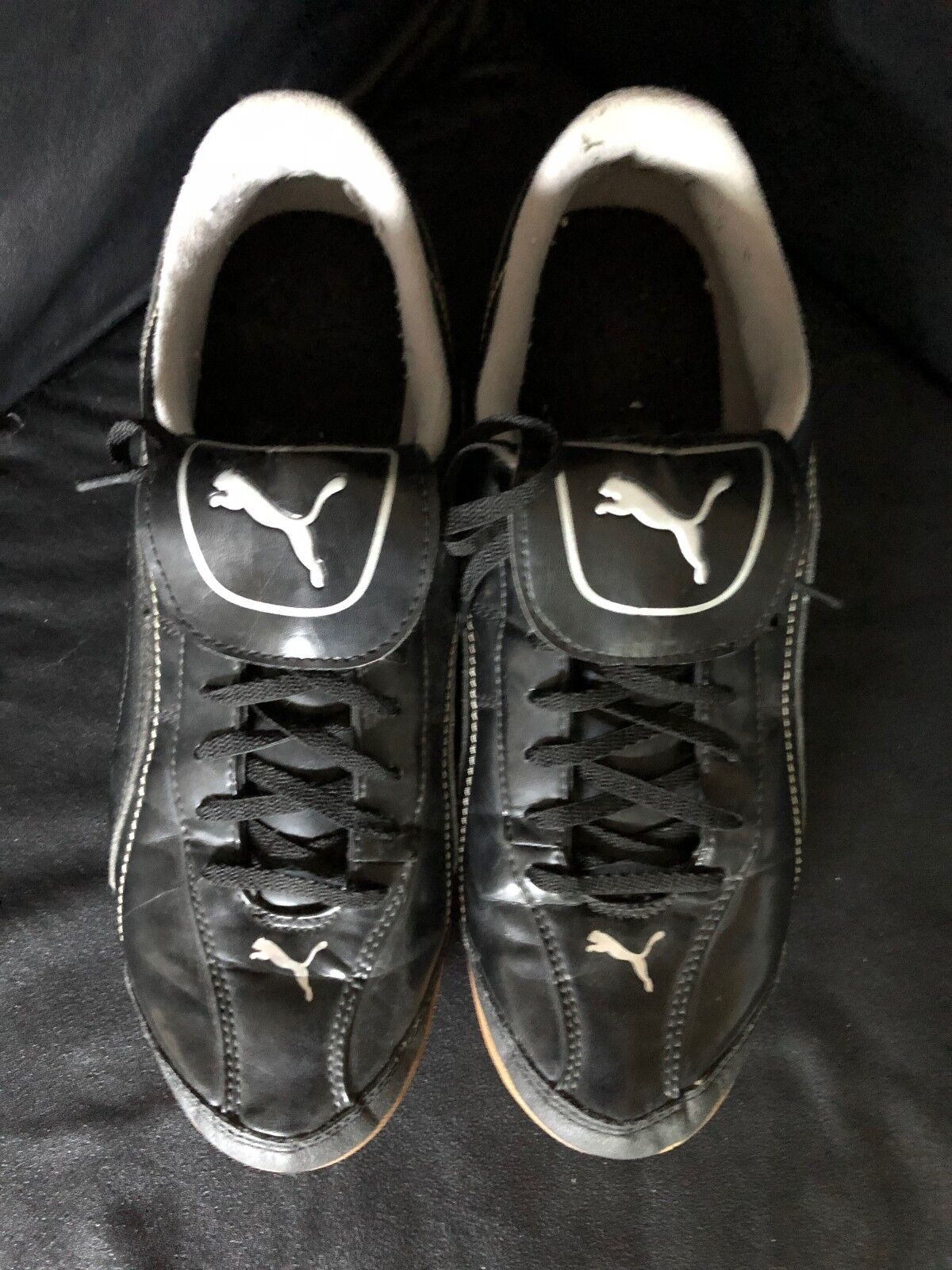 New Puma Mens Black 12 Lace Up Sneakers Shoes with Free Shipping