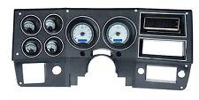 1973-87 Chevy C10 Truck Silver Alloy & Blue Dakota Digital VHX Analog Gauge Kit