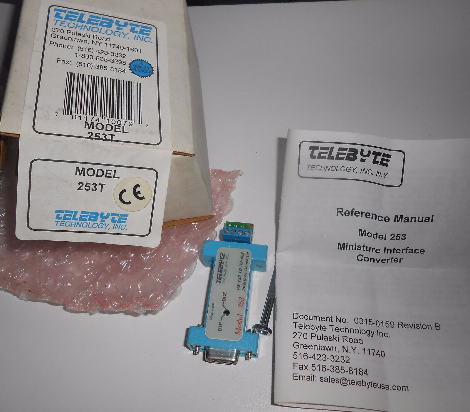 TELEBYTE 235T RS-232 TO RS-422 INTERFACE CONgreenER