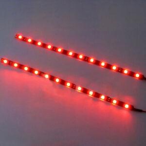 2Pcs-Red-30cm-5050-SMD-LED-Strip-Light-Flexible-Waterproof-12V-DIY-Car-nice-AU