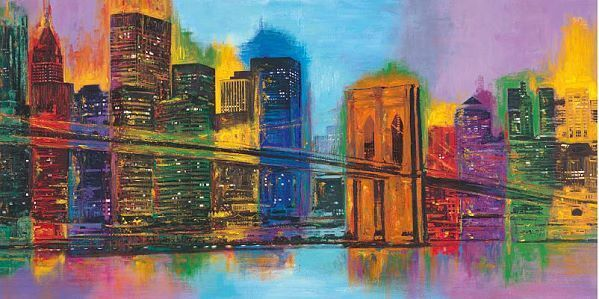 Brian Carter   Hello Nyc New York Tableau Prêt 50x100