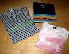 3x Armani Jeans:T-Shirts weiß schwarz+ Feinstrick-Streifen-Pulli Pullover Herren