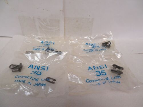 """NEW HKK CHAIN 35-1 SPRING CLIP CONNECTING CHAIN LINK /""""LOT OF 4/"""""""