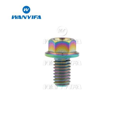 Titanium Flange Hex Head Bolts M6x10 15 20 25 30 40 50 65 Ti Bolt Screws Rainbow