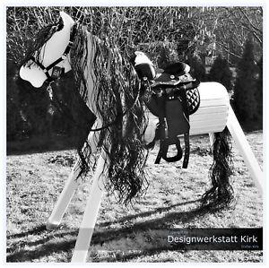 Das Prinzessin Traumpferd Holzpferd Chanise 90 cm in weiss Voltigierpferd Schaukelspielzeug