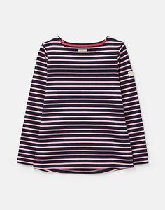 Joules-211602-Bci-Cotton-Long-Sleeve-Jersey-Top-Navy-Pink-Stripe