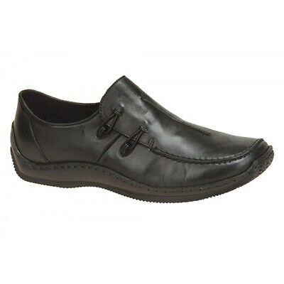 Rieker Ladies Leather Comfort Shoes Black | Deichmann
