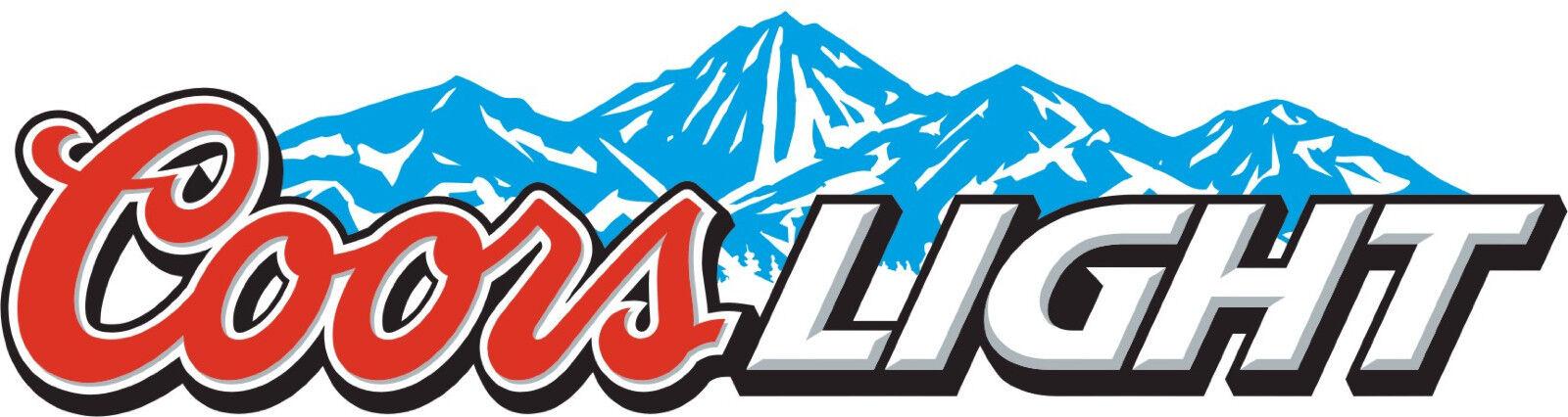 3 Longer Side Coors Light Logo Mountain Vinyl Sticker Art Decal Set of 3 Pieces
