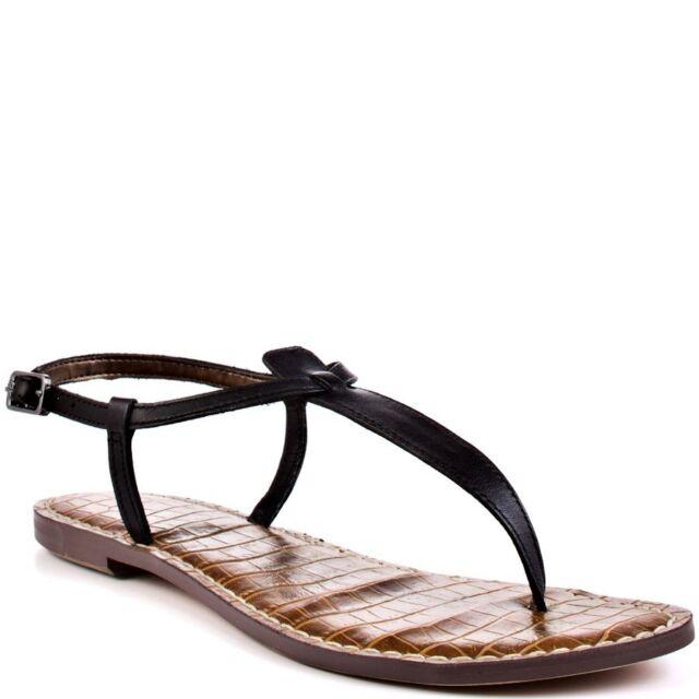 235a30f70f41 Sam Edelman Gigi Black Leather Ankle Strap Sandal womens 5-12  NEW!