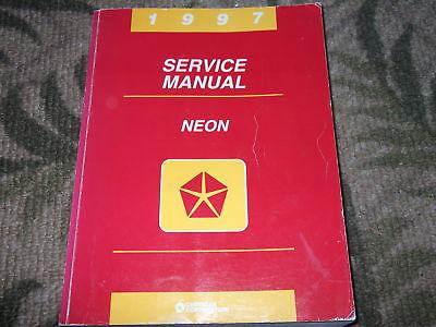 research.unir.net 2001 Dodge MOPAR Neon Service Workshop Repair ...