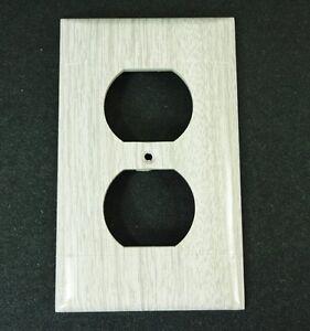 Image Is Loading Vintage Outlet Cover Sierra Electric Grey Oak Woodgrain