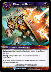 WOW WARCRAFT TCG BETRAYAL OF THE GUARDIAN : PIERCING SHOTS X 3