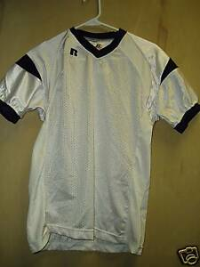 027723db0c1 Image is loading Youth-Game-Football-Jersey-White-Navy-XLarge-1X-