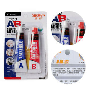 2x-AB-Modified-Acrylic-Adhesive-Glue-Shoe-Goo-Repair-Tube-Strong-Leather-Rubber