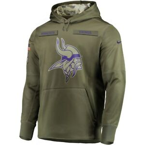 New 2018 Nike NFL Minnesota Vikings Salute To Service STS Sideline ... 415f474ef