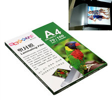 1 Pack 100 Sheet 220x305mm A4 Laminating Pouch Film Glossy Protect Photo Paper