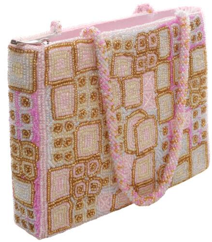Gold di sera perline da con borsa borsetta Migliaia Pearl Pink Bag Pink wUFx8PXqE