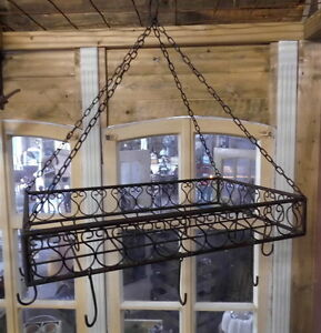 Küche Töpfe Aufhängen | Kuchenhanger Fur Topfe Pfannen Krauter Antikstil Kuche