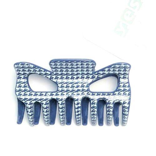 schöner Haarkrebs Haarklammer Haarkralle Haarclip blau weiß 9 cm x 4,7 cm SOLIDA