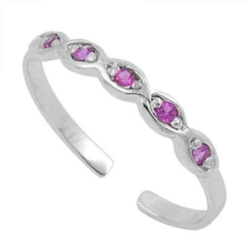 Infinity toe ring sterling silver 925 Beach Réglable Bijoux Cadeau 2 mm Rose