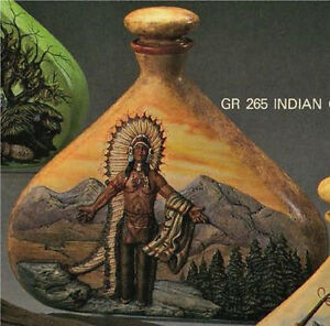 Ready to Paint Ceramic Bisque 8 Indian Native American Chief with Squaw Woman E683