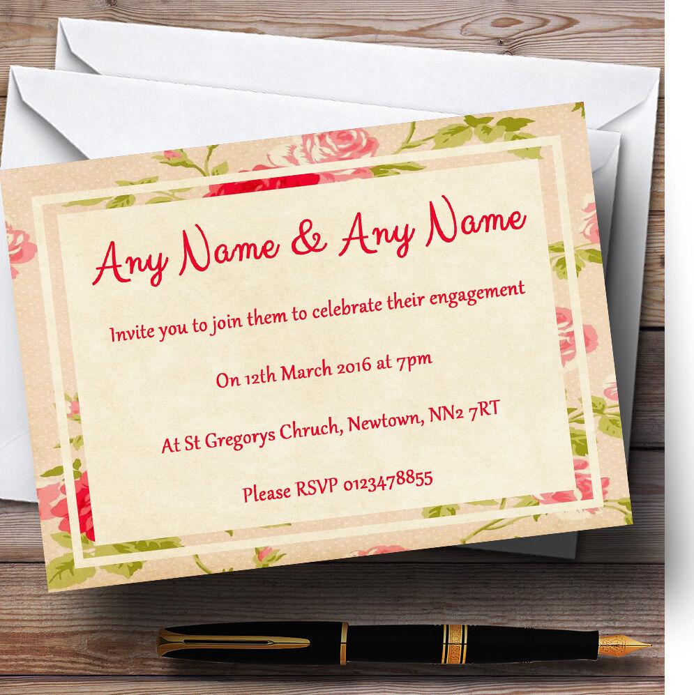 Rose fleurs carte invitations postale Personnalisé Fiançailles invitations carte ed4c17