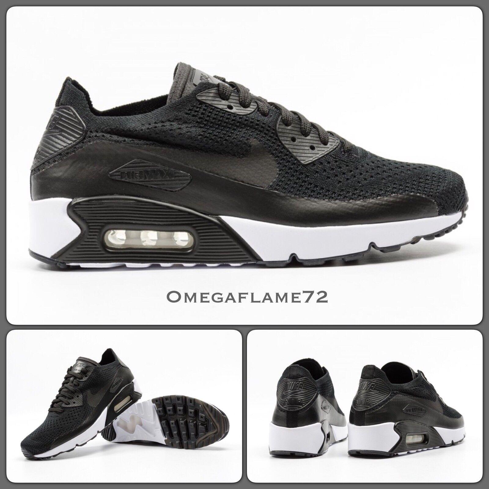 Nike Air Max 90 Ultra 2.0 Flyknit 875943-004,11.5 EUR blanc 47 US 12.5 noir blanc EUR 14a5ae