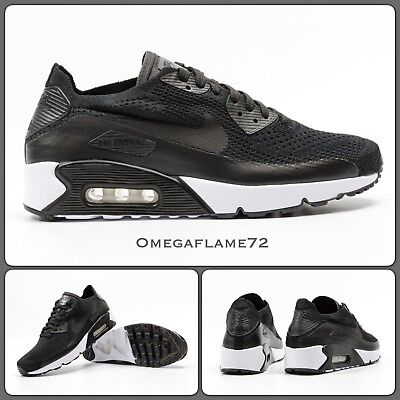 Nike Air Max 90 Ultra 2.0 Flyknit, Black, 875943 004, Sz UK 11.5, EUR 47 US 12.5 | eBay