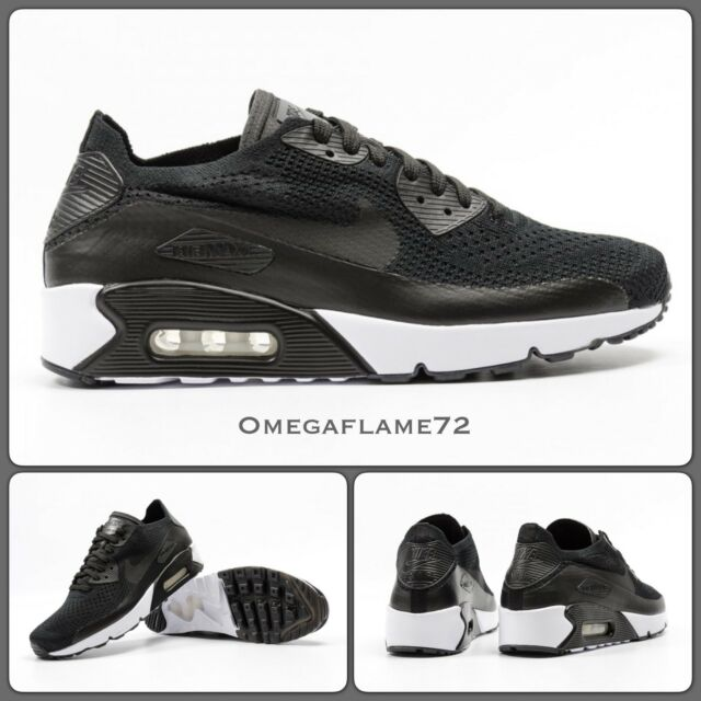 factory outlets more photos 50% off Nike Air Max 90 Ultra 2.0 Flyknit 875943-004, UK 11.5 EUR 47 US 12.5 Noir  Blanc
