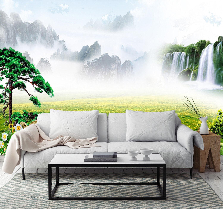3D Freien Freien Freien Wasserfall Natur 9873 Tapete Wandgemälde Tapeten Bild Familie DE Jenny | Zürich  | New Products  | Vorzügliche Verarbeitung  f97499