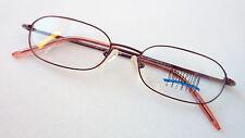 Brille Brillenfassung rot schmale Gläser stabil leicht Metallgestell rot neu M