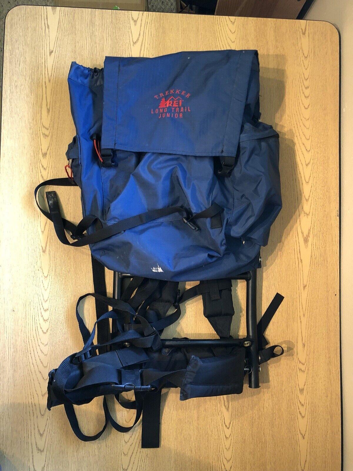 REI Trekker Long Trail Junior Backpack For Hiking Camping Kids