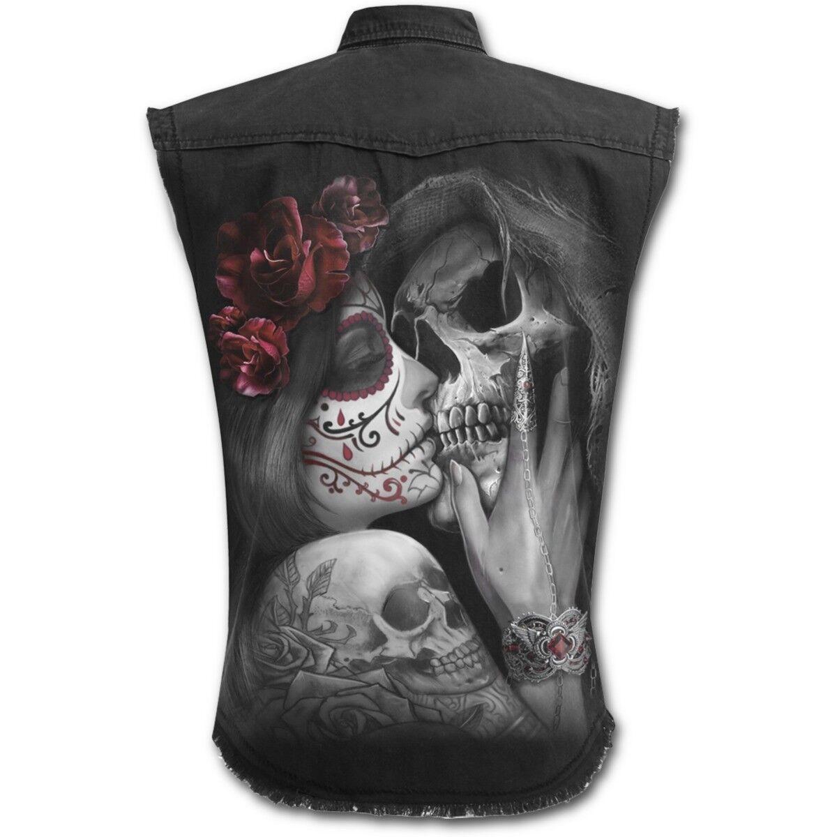 Spiral Direct DEAD KISS SLEEVELESS WORKER Shirt Sugar Skull Love Love Love M-L-XL-XXL-4XL | Kompletter Spezifikationsbereich  | Ausgewählte Materialien  bb93d4