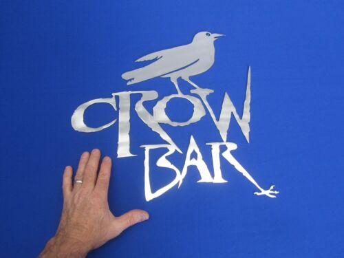 Cool! Crow Bar Saloon Man Cave Atelier Bureau Plasma CUT wall art signe 17x 17