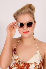 Vintage frosted orange cat eye sunglasses rockabilly retro pin up