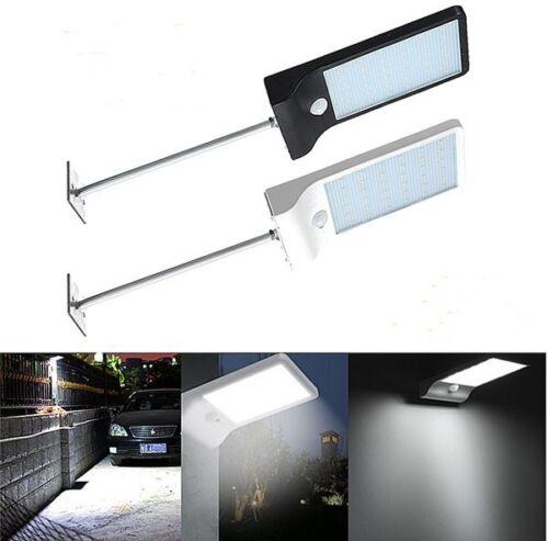 Luz Solar LED 36 Lampara de Seguridad con Sensor de Movimiento Montaje Aluminiun