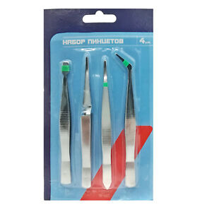 4pcs//set Precision Tweezer Set Art Crafts Hobby Beauty Jewelly DIY Tools