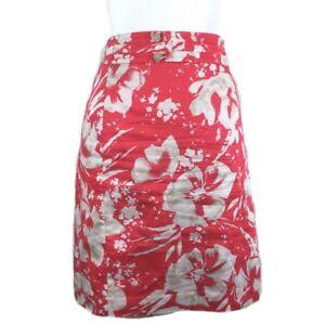 faea62b82 Ann Taylor Loft Women Sz 10 Pencil Skirt Pink Coral Cream Floral ...