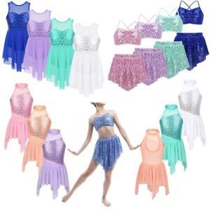 Girls-Sequins-Lyrical-Modern-Dance-Dress-Gymnastics-Stage-Performance-Costumes